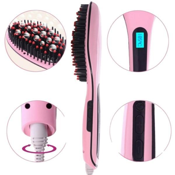 Электрическая расческа выпрямитель Fast Hair Straightener HQT-906 Розовая hub_mWxo90881, мініатюра №3