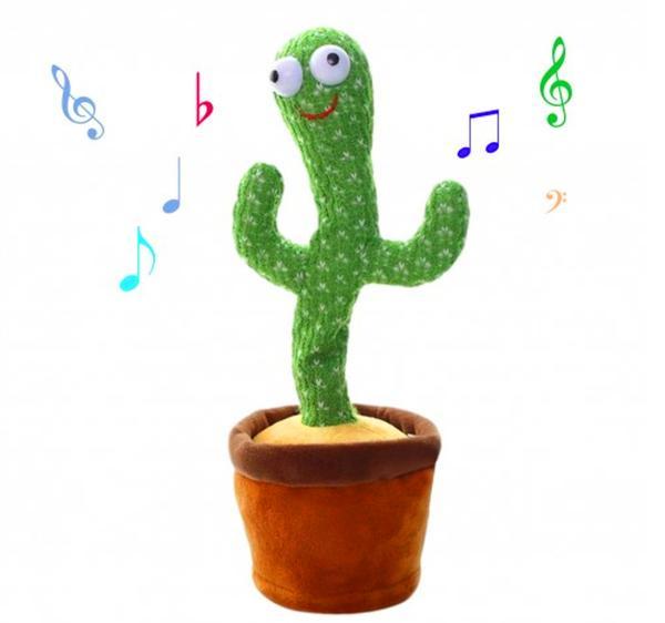 Танцующий кактус музыкальная игрушка 34 см, мініатюра №1
