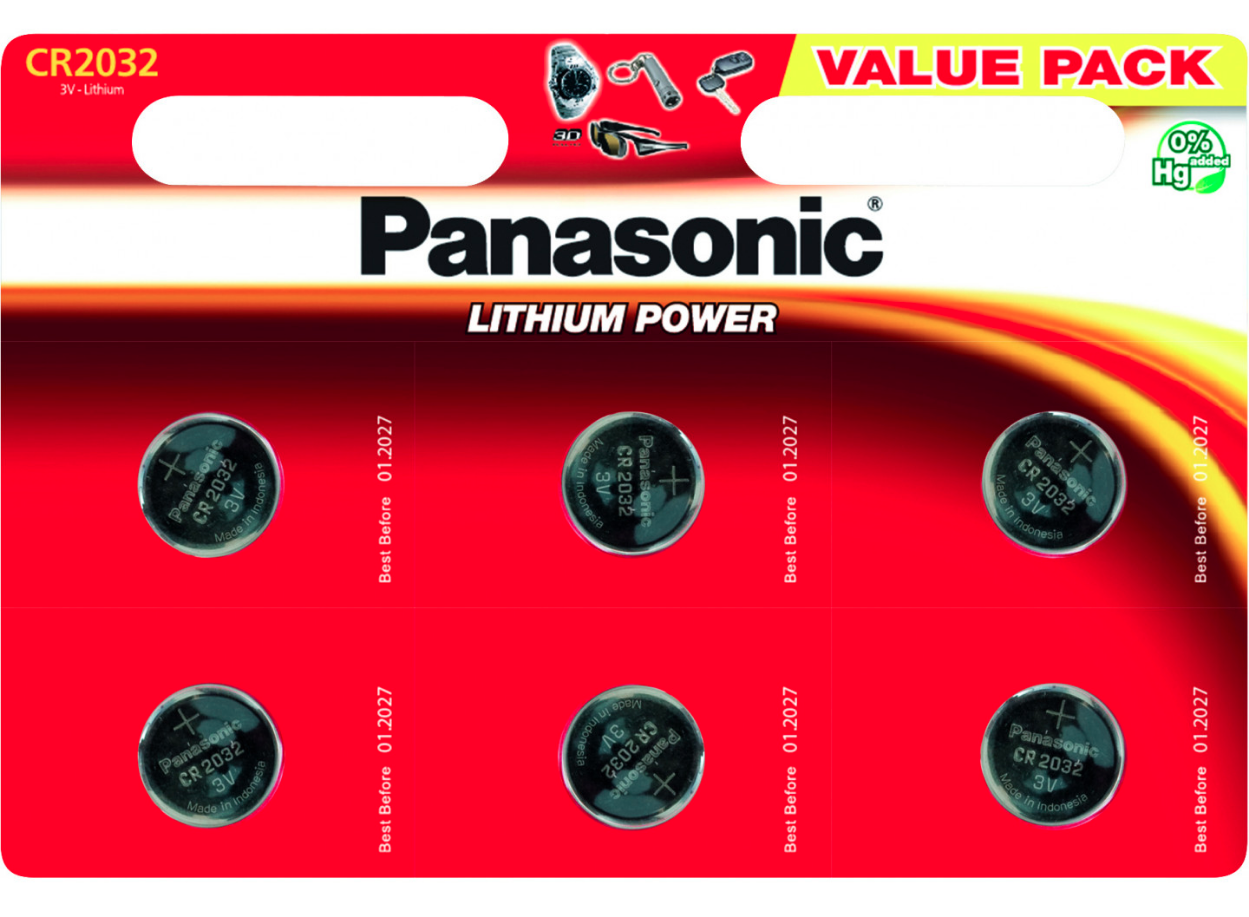 Батарейка Panasonic CR 2032 BLI 6 LITHIUM