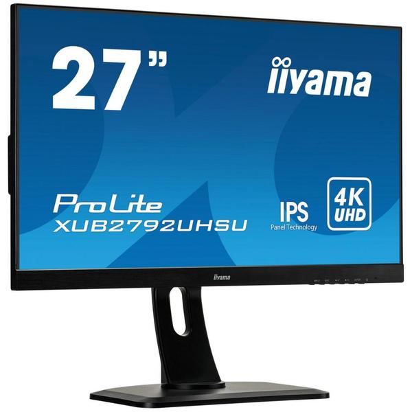 """Монітор Iiyama ProLite LED 27"""" 4K Ultra HD XUB2792UHSU-B1, мініатюра №2"""