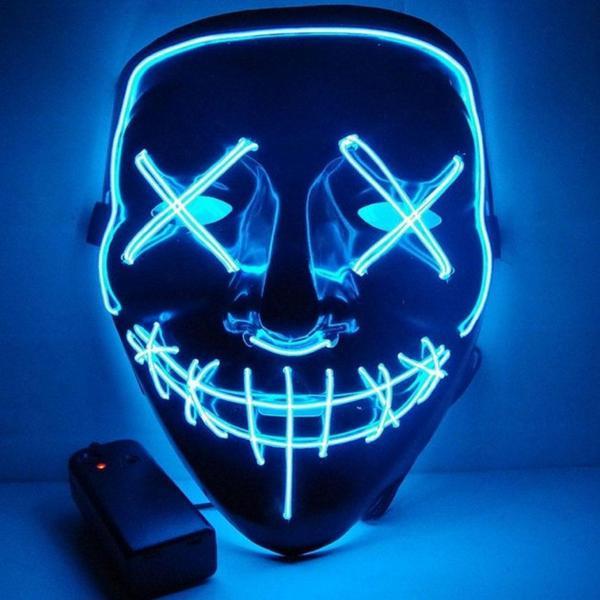 "Неоновая маска Purge Mask из фильма  ""Судная ночь"" Original (2211194201), мініатюра №1"