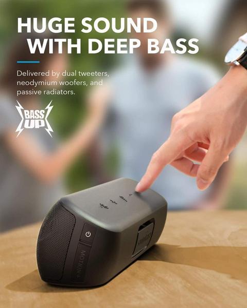 Бездротова Bluetooth Колонка Anker SoundCore Motion Plus 30W Waterproof IPX7 5.0 Qualcomm aptX, мініатюра №2