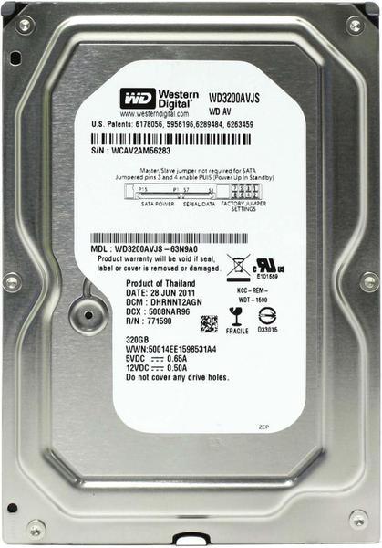 """Внутрішній жорсткий диск Western Digital 320ГБ 7200 обертів в хвилину 8МБ 3.5"""" SATA II WD3200AVJS, мініатюра №1"""