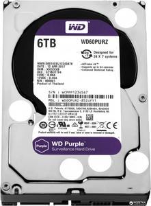 """Внутрішній жорсткий диск Western Digital 3.5"""" 6ТБ 5400 обертів в хвилину 64МБ SATA III WD60PURZ"""
