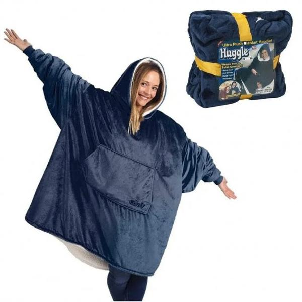 Толстовка худи оверсайз плед халат с капюшоном Huggle Hoodie односторонняя, мініатюра №1
