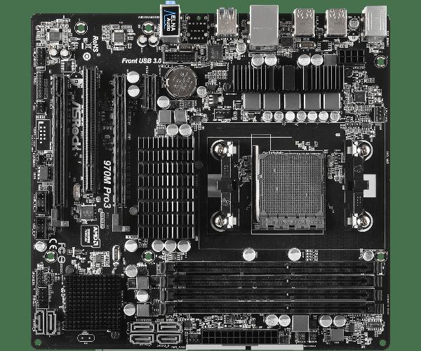 Материнська плата Asrock 970M Pro3 (90-MXGXE0-A0UAYZ), мініатюра №1