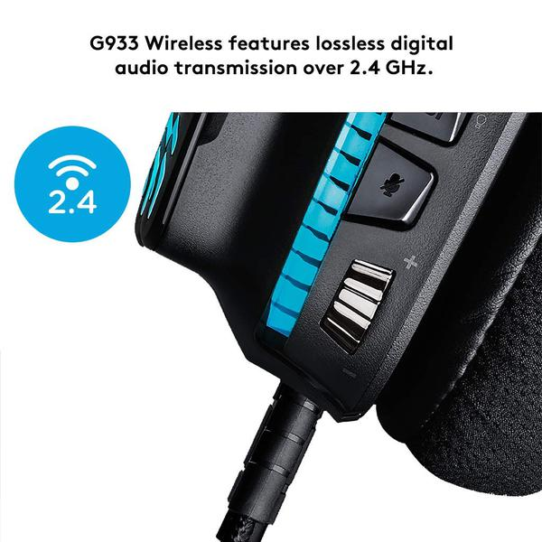 Навушники Logitech G933 Gaming Wireless (981-000599), мініатюра №11
