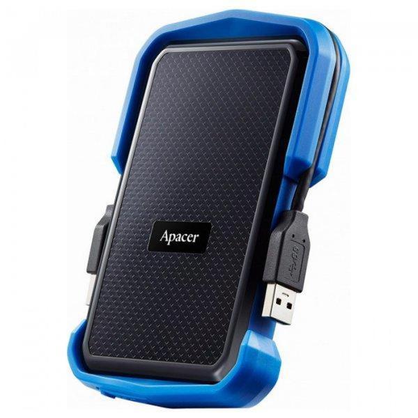 """Зовнішній жорсткий диск Apacer 1ТБ 2.5"""" USB 3.0 чорний синій AP1TBAC631U-1, мініатюра №2"""