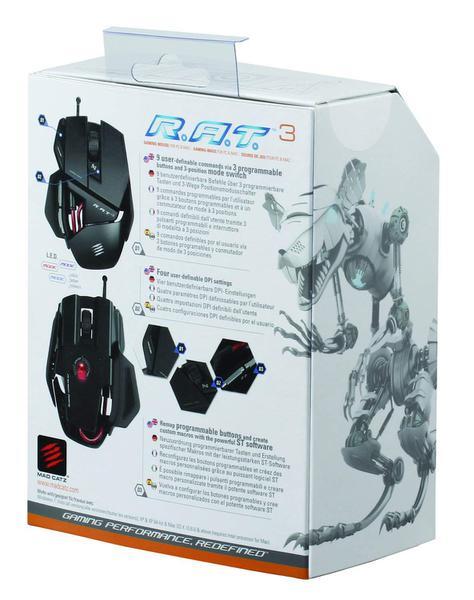 Мишка Mad Catz  R.A.T. 3 Gaming Mouse Black USB (MCB4370300B2/04/1), мініатюра №4