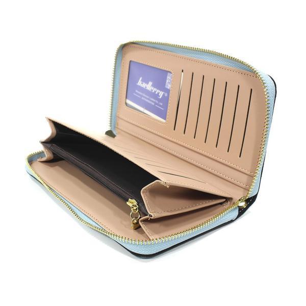 Кошелек женский синий Baellerry N2823 Blue аксессуар для хранения денег клатч визитных карт на змейке, мініатюра №2