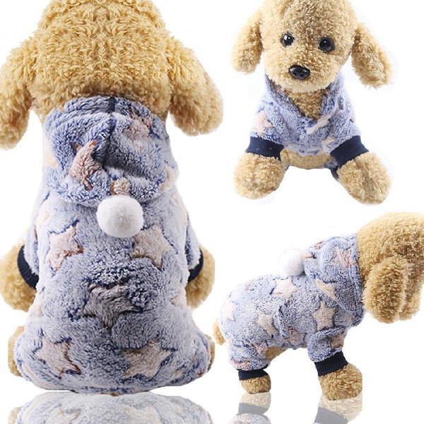 Комбинезон для собак флисовый Alfa Звезды XS Голубой, мініатюра №2