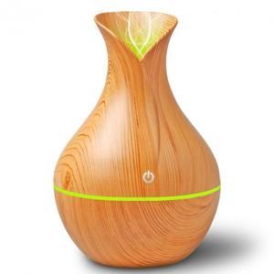 Зволожувач повітря Humidifier Ultrasonic Aroma арома лампа с LED підсвіткою 7 кольорів PLUS  очищувач світле дерево