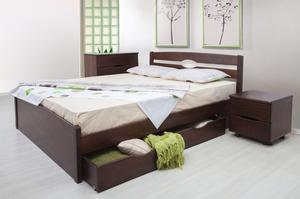 Кровать МИКС-Мебель Двуспальная  Ликерия люкс с ящиками 200*190 Венге  (71463)