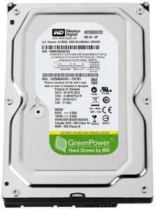 "Жесткий диск Western Digital  AV 500ГБ 5400об/м 32МБ 3.5"" SATA II (WD5000AVDS)"