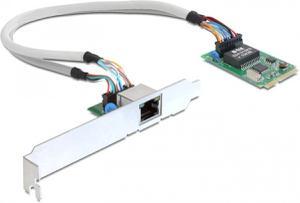 Интерфейсный адаптер DeLOCK Mini PCIe I/O PCIe full size 2 x Gigabit LAN (4043619952373)