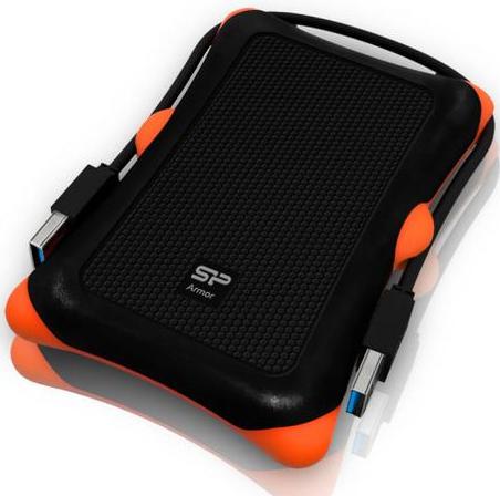 """Зовнішній жорсткий диск Silicon Power 2ТБ 2.5"""" USB 3.0 чорний SP020TBPHDA30S3K, мініатюра №1"""