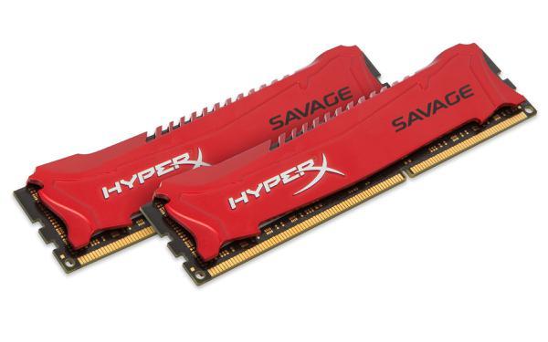 Модуль пам`яті Kingston HyperX Savage DDR3 8GB (2 x 4GB) 1600MHz (HX316C9SRK2/8), мініатюра №1