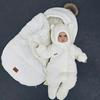 Зимний набор для ребенка кокон-конверт теплый человечек Бебби молочный 50, 56, 62, 68, мініатюра №2