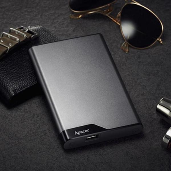 """Зовнішній жорсткий диск Apacer 2ТБ 2.5"""" USB 3.1 cірий AP2TBAC632A-1, мініатюра №4"""