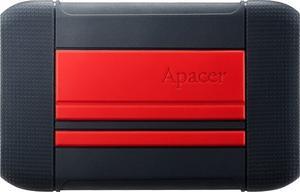"""Накопитель внешний HDD 2.5"""" USB 2TB Apacer AC633 Black/Red (AP2TBAC633R-1)"""