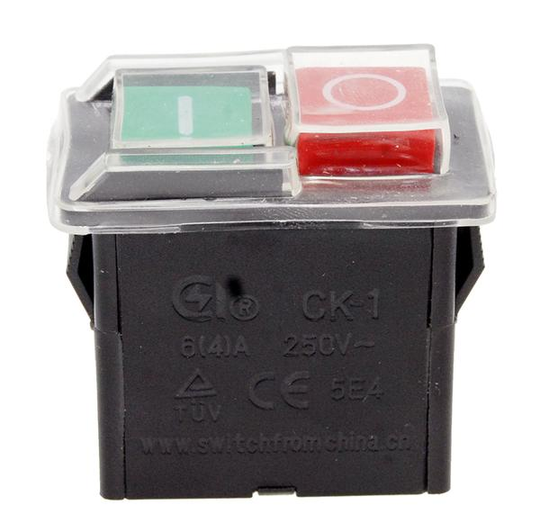 Кнопка VJ Parts бетономешалки 4 контакта 4A CK-1 арт кн1350, мініатюра №1