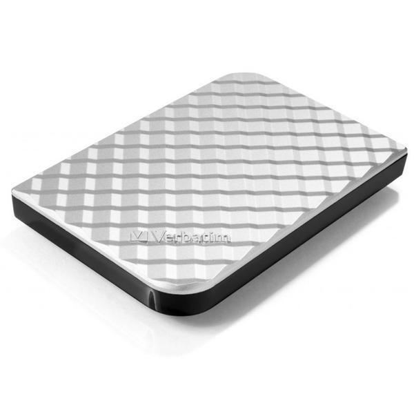 """Зовнішній жорсткий диск Verbatim 1ТБ 2.5"""" USB 3.0 silver 53197, мініатюра №2"""