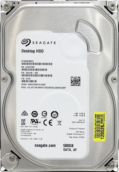 """Внутрішній жорсткий диск Seagate Desktop HDD 500ГБ 7200 обертів в хвилину 16МБ 3.5"""" SATA III ST500DM002, мініатюра №8"""