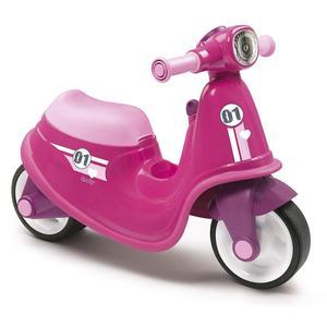 Детский мотоцикл беговел толокар Smoby розовый 721002