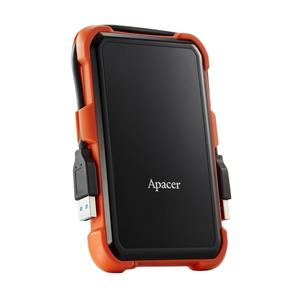 """Зовнішній жорсткий диск Apacer 2TB 2.5"""" USB 3.1 AC630 black оrange AP2TBAC630T-1"""