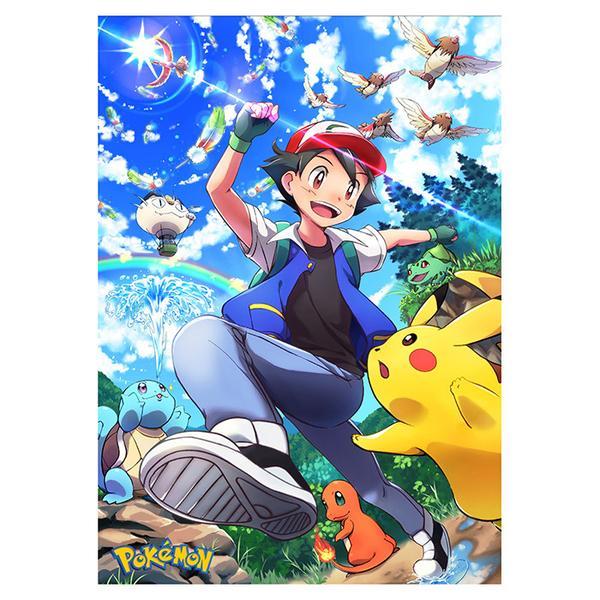 Постер Покемон Эш Пикачу Чермандер Бульбазавр Мьяут Пиджей Pokemon 8476, мініатюра №1