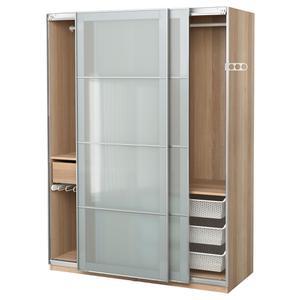 Шкаф IKEA PAX 150x66h201 амортизатор дверей дуб Sekken  (591.282.14)