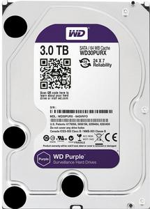 Внутрішній жорсткий диск Western Digital 3ТБ 5400 обертів в хвилину 64МБ SATAIII WD30PURZ