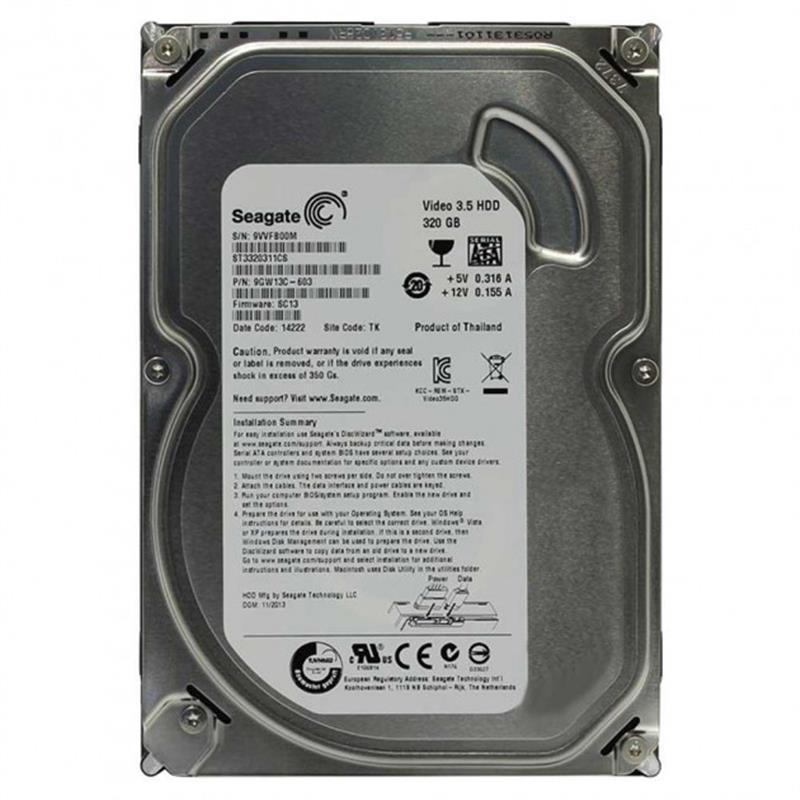Внутрішній жорсткий диск Seagate SATA 320GB 5900rpm 8MB ST3320311CS