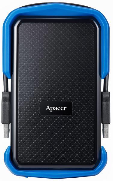 """Зовнішній жорсткий диск Apacer 2ТБ 2.5"""" USB 3.1 чорний синій AP2TBAC631U-1, мініатюра №1"""