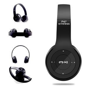 Беспроводные Bluetooth стерео наушники HBQ MEGA BASS P47 с MP3 Черная 47 Black