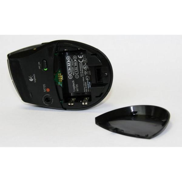 Мишка Logitech M705 Marathon Wireless Black (910-001949), мініатюра №6