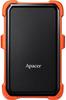 """Зовнішній жорсткий диск Apacer 1ТБ 2.5"""" USB 3.1 чорний помаранчевий AP1TBAC630T-1, мініатюра №1"""