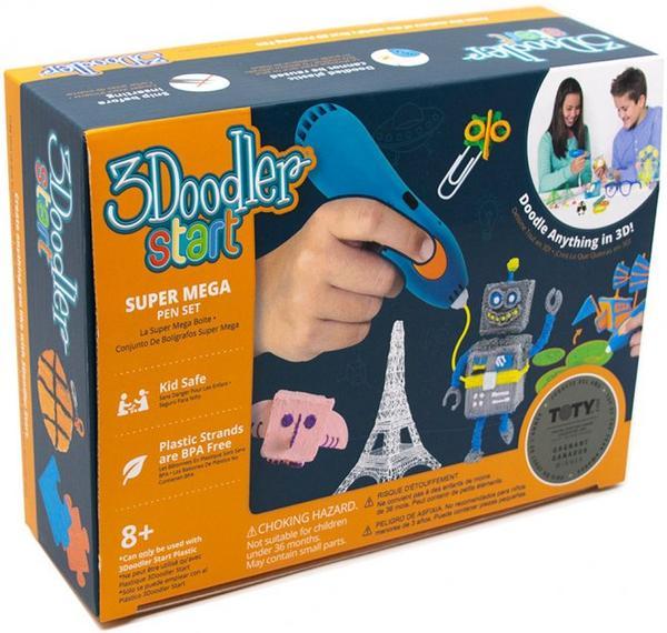 Беспроводная Детская 3D-ручка 3Doodler Start 2 3Дудлер Старт Essentials 3D Pen Set плюс 16 метра пластика, мініатюра №1