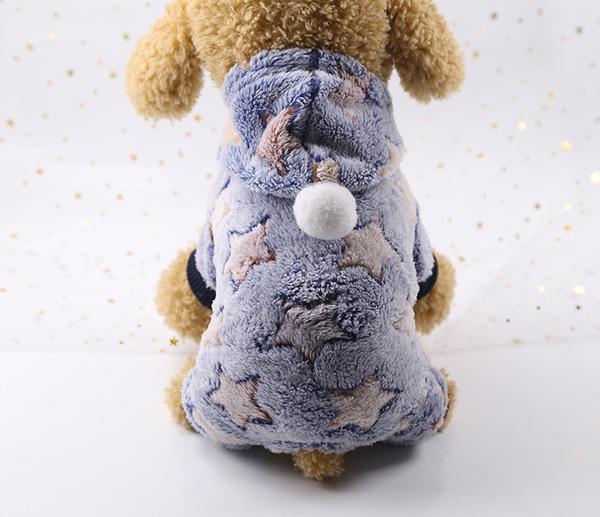 Комбинезон для собак флисовый Alfa Звезды XS Голубой, мініатюра №3