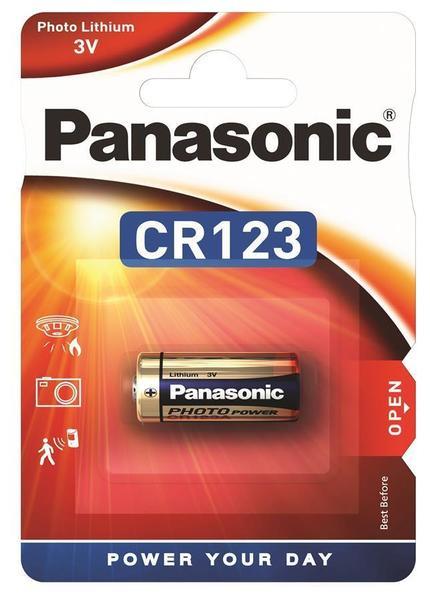 Батарейка литиевая Panasonic CR123A LITHIUM 3V 1pc blister card, мініатюра №1