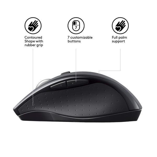Мишка Logitech M705 Marathon Wireless Black (910-001949), мініатюра №10