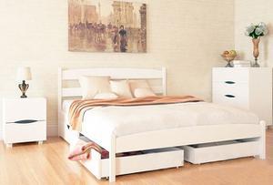 Кровать МИКС-Мебель Полуторная  Ликерия без изножья с ящиками 120*200 Белый  (69889)