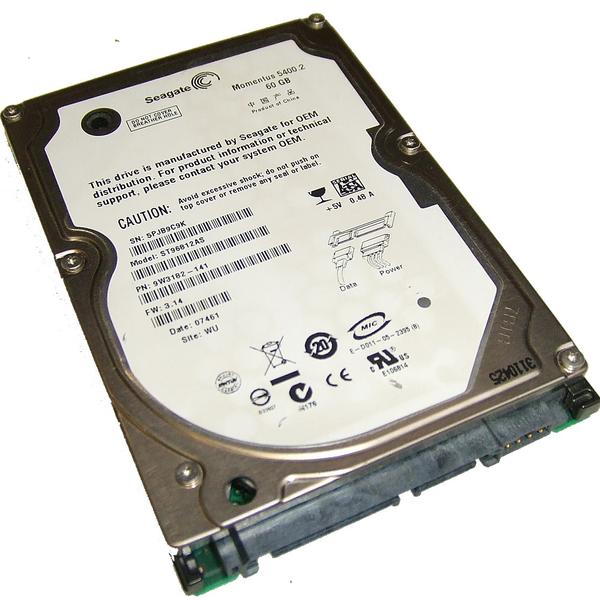"""Внутрішній жорсткий диск Seagate 60ГБ 5400 обертів в хвилину 8МБ 2.5"""" SATA II ST96812AS, мініатюра №1"""