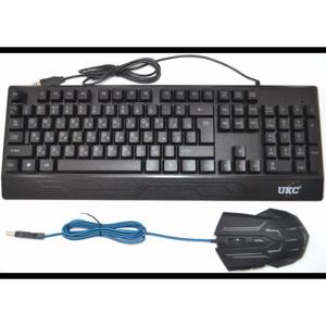 Русская проводная клавиатура мышка UKC M710 с подсветкой