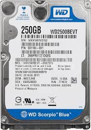 """Внутрішній жорсткий диск Western Digital 250ГБ 5400 обертів в хвилину 8МБ 2.5"""" SATA II WD2500BEVT, мініатюра №1"""