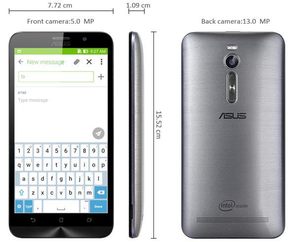 Смартфон Asus ZenFone 2 4-64 Gb Glacier grey 90AZ00A5-M03670, мініатюра №36
