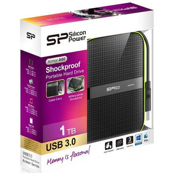 """Зовнішній жорсткий диск Silicon Power 2ТБ 2.5"""" USB 3.0 чорний SP020TBPHDA60S3K, мініатюра №8"""