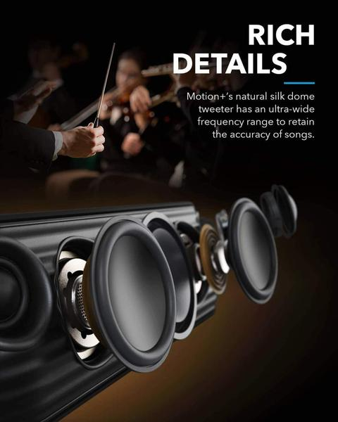 Бездротова Bluetooth Колонка Anker SoundCore Motion Plus 30W Waterproof IPX7 5.0 Qualcomm aptX, мініатюра №4