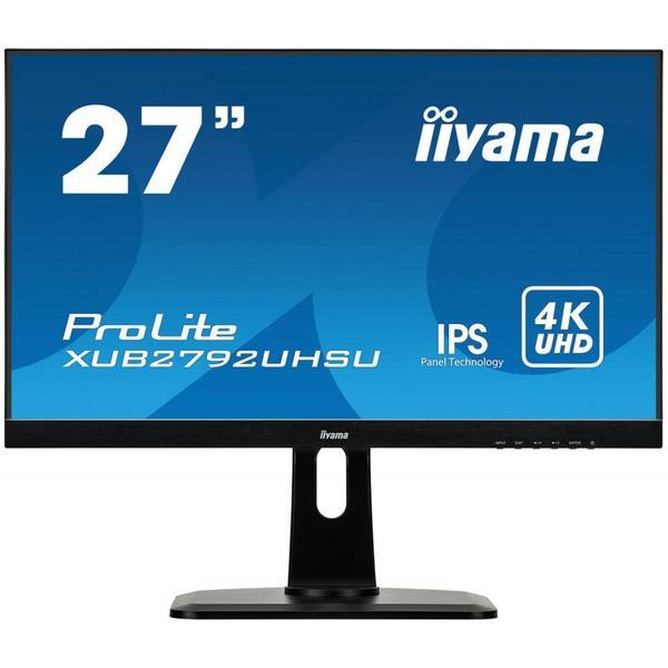 """Монітор Iiyama ProLite LED 27"""" 4K Ultra HD XUB2792UHSU-B1, мініатюра №1"""