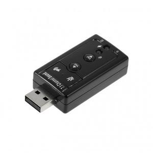 Внешняя звуковая карта Lesko USB Спартак 3D Sound 7.1 Черный (4047-11817a)